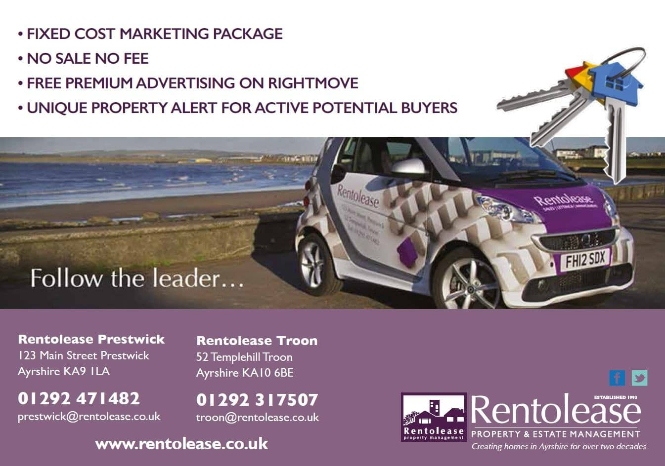 Ayrshire Estate Agents - Sell Your Home With Rentolease